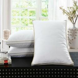 White Goose Feather Pillow Cushion Cotton
