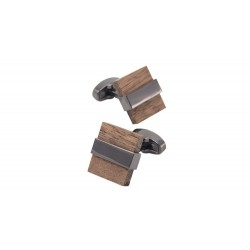 Luxury Wooden Square Men's Cufflinks