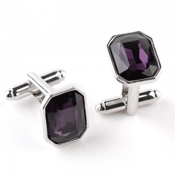 Trendy Crystal Men's Cufflinks