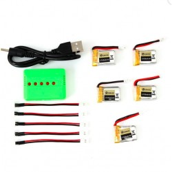 Set Chargeur Batterie Eachine E010-0006 RC Quadcopter 3.7V 150MAH 45C 5pcs