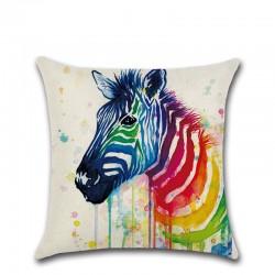 Colorful Animals Pillowcase Cushion Cover Cotton 45 * 45cm