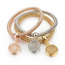 Fashion Round Hollow Women's Bracelet
