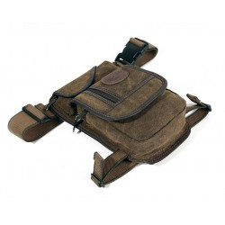 Men's Canvas Hip Belt Waist Thigh Military Leg Bag