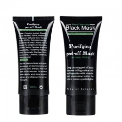 50ml Blackhead Remover Deep Cleansing Purifying Peel Off Acne Black Mud Face Mask H16