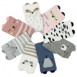 Boys Girls 3D Animals Warm Kids Socks 4pair