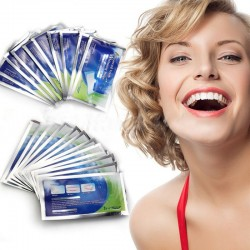 Professional teeth whitening bleaching gel strips 28 pcs