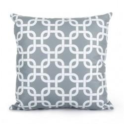 Grey Geometric Pillowcase Cushion Cover Cotton 45 * 45cm