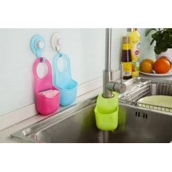 Kitchen Bathroom Folding Silicone Hanging Storage Holder Rack