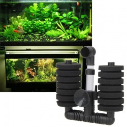 Fish Tank Aquarium Skimmer Biochemical Sponge Filter Air Pump