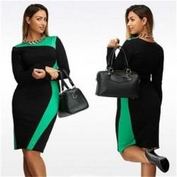 Plus Size Schlankes Elegantes Kleid