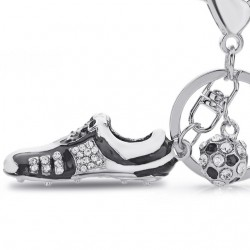 Crystal Football Soccer Shoe Rhinestone Keychains For Car Purse Bag Buckle Pendant Keyrings Key Cha