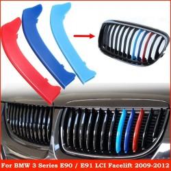BMW 3 serie E90 E91 rooster strip nieren 3 delig