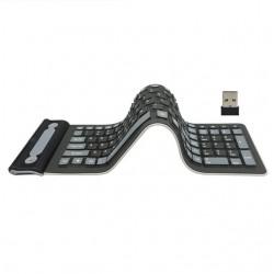 Silicone Flexible Foldable Wireless 107 Keys Keyboard Russian - Qwerty