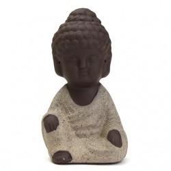 Kiwarm Mini Monk Figurine Buddha Statue Tathagata India Yoga Mandala Sculptures Ceramic Tea Ceremony