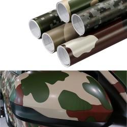 Auto Motorcycle Camouflage Vinyl PVC Wrap Sticker Decal 30 * 100cm