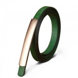 Fashion Style Genuine Leather Alloy Buckle Belt