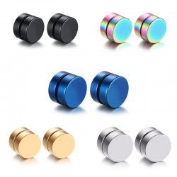 Vnox 5Pairlots Magnetic Clip Earrings Sets Stainless Steel Men Jewelry free 2pcs Enhance Magnets