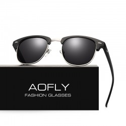 Classic Half Metal Polarized Sunglasses Unisex