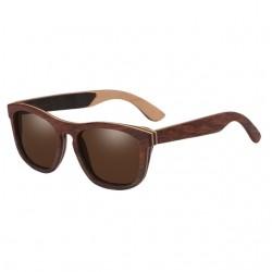 Holz Design Polarisierten Spiegel Objektiv Sonnenbrille Unisex