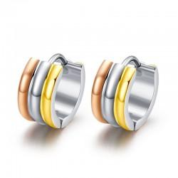 Small Tricolor Hoops Earrings