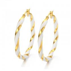 Vnox Gold-color Big Hoop...