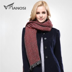 VIANOSI Thicken Warm Scarf Woman Fashion Tassel Winter Scarves and Stoles Dual Purpose Long Scarf
