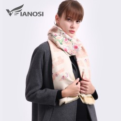 VIANOSI Luxury Scarf Women Wool Shawls and Scarves Thicken Foulard Warm Wrap Printing Cashmere Winte