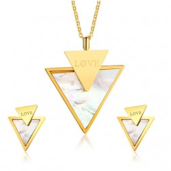 Love & Triangle Stylish Jewelry Set