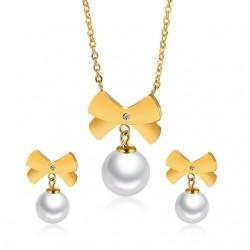 Set Bijoux Floc et Perle Fashion