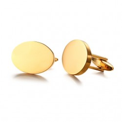 Oval Shape Gold Cufflinks