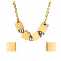 Bijoux Cubiques et Sphères Set Fashion