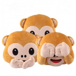 Plush Monkey Emoji Pillow Seat Chair Cushion