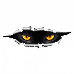 3D Peeking Cat Eyes Vinyl Car Sticker Waterproof