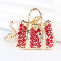 Red Crystal Handbag keychain