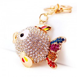 Colorful Crystal Fish Keychain Keyring
