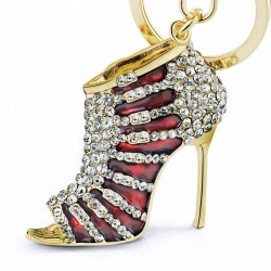 Crystal High Heel Shoe Keyring Keychain