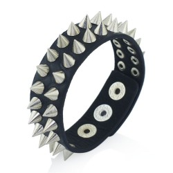 Gothic Spikes Rivet Leather Bracelet Unisex