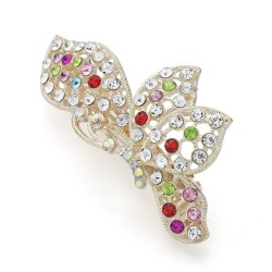 Dalaful Elegant Butterfly Alloy Hairpins For Women Lady Hair Ornament Crystal Jewelry Gift F146
