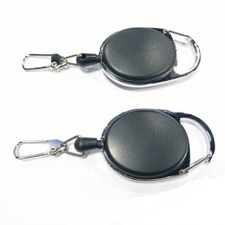 Retractable Pull Reel Name Tag Card Holder Keychain Keyring