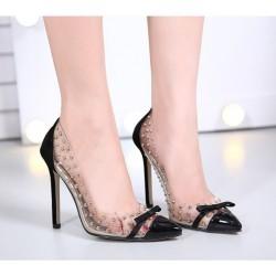 Chaussures avec Talon Haut Transparents en PVC