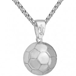 Football - rugby ball - volleyball pendant stainless steel necklace