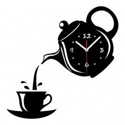 Horloge mural en forme de tasse