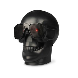 Plastic Skull Shape Wireless Bluetooth NFC Subwoofer Multipurpose Speaker
