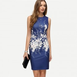 Fashion Printed Mini Dress