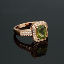 Gold Over Silver Diamond Ring
