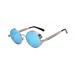 Steampunk - retro - vintage round metal sunglasses - UV400 - unisex