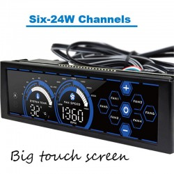 Computer Fan Speed Control Touch Screen 6 Channels