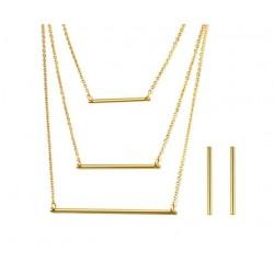 3 Layer Necklace& Earrings Jewellery Set