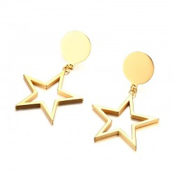Gold Five-pointed Stars Earrings