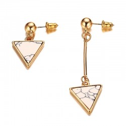 Irregular Triangles Natural Stone Earrings